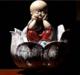 供应陶瓷工艺品喷泉加湿器陶瓷流水摆件客厅桌面风水摆件复古流水器