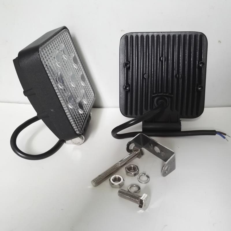 挖机LED前大灯10-80V宽电压9珠27W小松合力杭州电动叉车工作灯