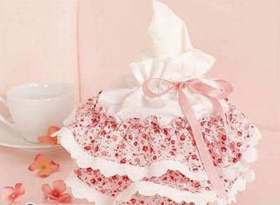 田园布艺纸巾盒2
