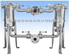 双联袋式过滤器 双联滤袋过滤器 不锈钢双联过滤器 双联不锈钢袋式过滤器