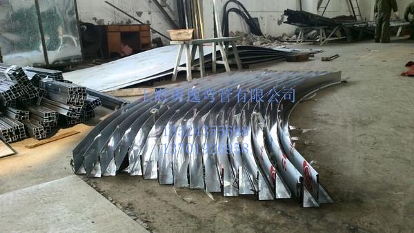 参与全国重点工程,钢结构,铝合金弯弧拉弯加工,弯头,加热器盘管,过道