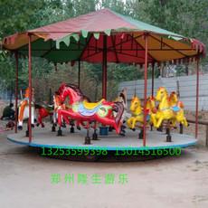 移动转马儿童游乐设备厂家 旋转木马易拆装 郑州隆生简易转马