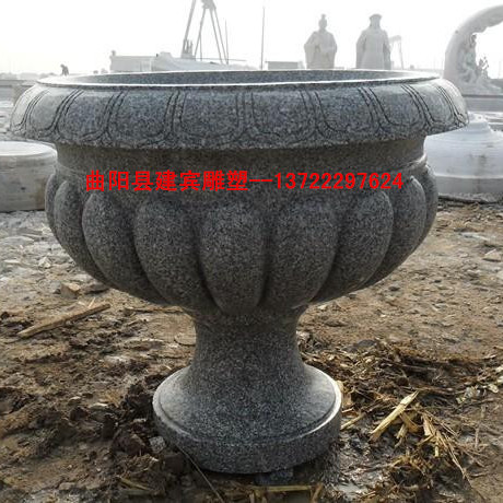 石雕花钵花盆雕刻厂-大理石花盆花钵雕塑