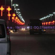 道路灯杆中国结-中国结灯工程案例-中国结生产批发