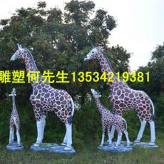 玻璃钢长颈鹿雕塑 深圳仿真动物雕塑厂家