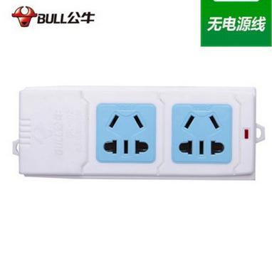 批发销售正品公牛电源无线插座插排 2孔电插板GN-A02插座
