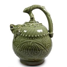 供应 厂家直销耀州窑 陶瓷摆件三件套