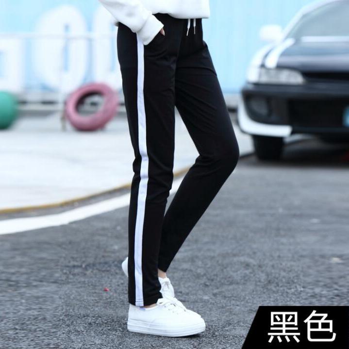 秋2017新款韩版宽松显瘦运动裤女休闲直筒跑步长裤学生百搭哈伦裤