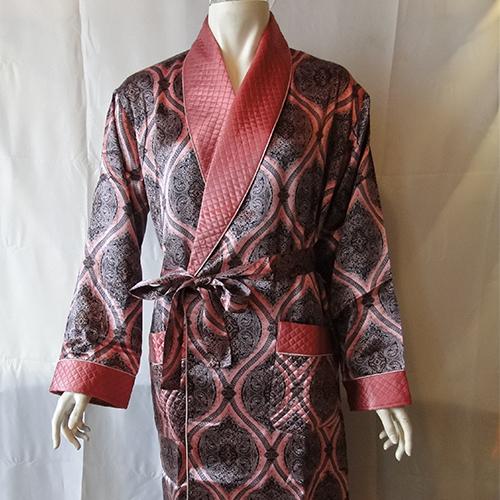 丝绸睡衣  真丝睡衣 顺成纺织丝绸睡衣 菱形图文睡袍睡衣