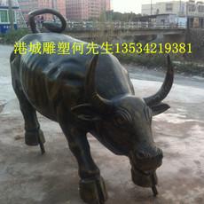 东莞仿真动物雕塑 玻璃钢大水牛雕塑厂家