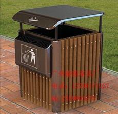 户外垃圾桶、钢木垃圾桶、室外垃圾桶