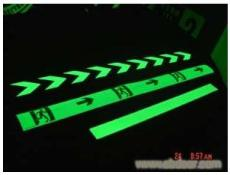 供应夜光疏散条 发光指示标识
