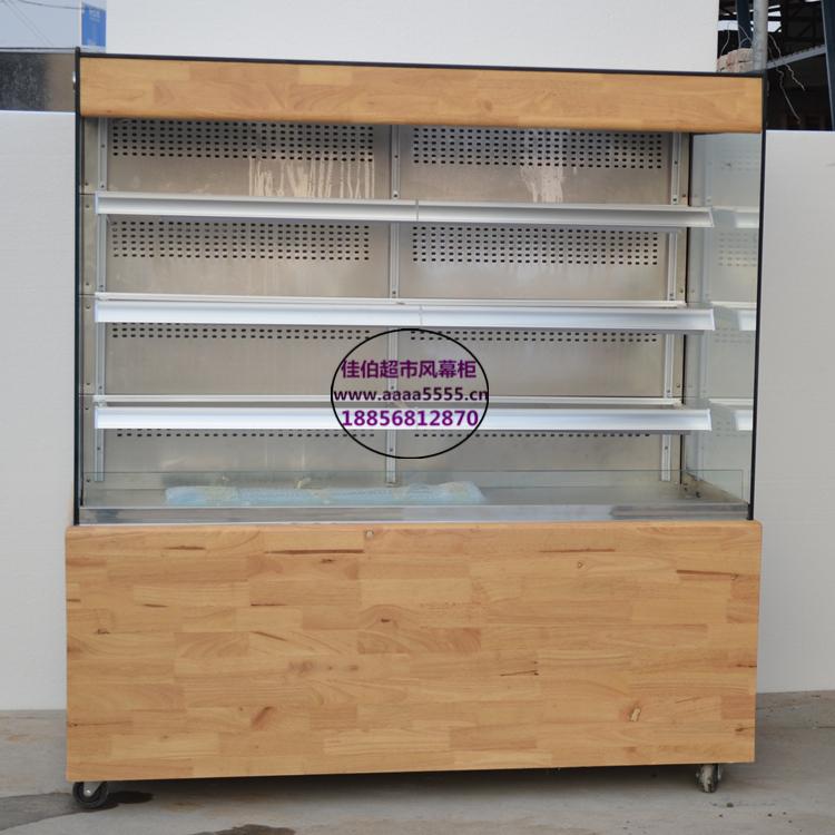 提拉米苏甜品展示保鲜柜 天然橡木底座蛋糕冷藏柜 新余定做蛋糕柜厂家