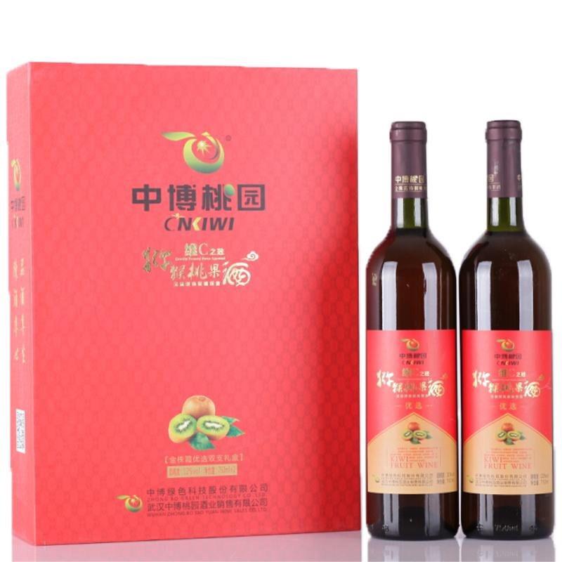 中博桃园猕猴桃果酒维C之冠支礼盒