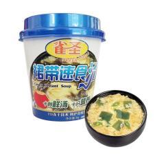 营养早餐雀圣裙带冻干速食汤批发8g杯装速溶蛋花汤潍坊厂家生产