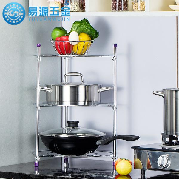厂家直销锅架 易源厨房多功能置物架 五层 厨房用品架 多层三角架图片
