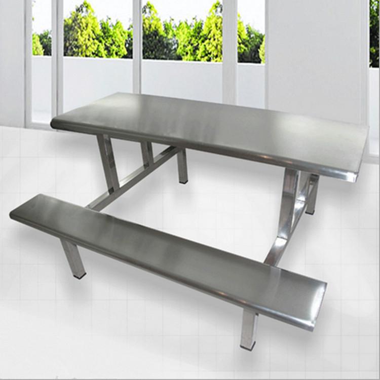 康胜十年老厂批发深圳食堂不锈钢餐桌 优质学生食堂不锈钢餐桌椅价格
