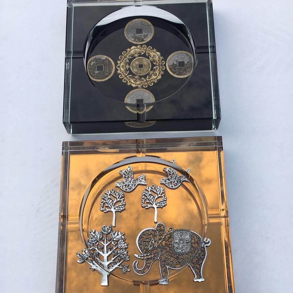 水晶烟缸 大量厂家直销新款水晶烟灰缸 水晶工艺品可定制