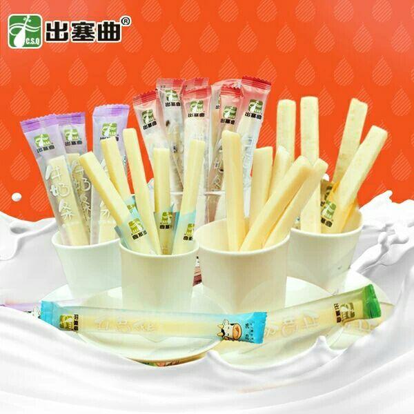 内蒙古特产出塞曲牛奶条奶酪条儿童零食酸奶棒乳酪260g包邮