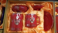 办公用品陶瓷水杯 赠送礼品陶瓷水杯 青花陶瓷水杯订做