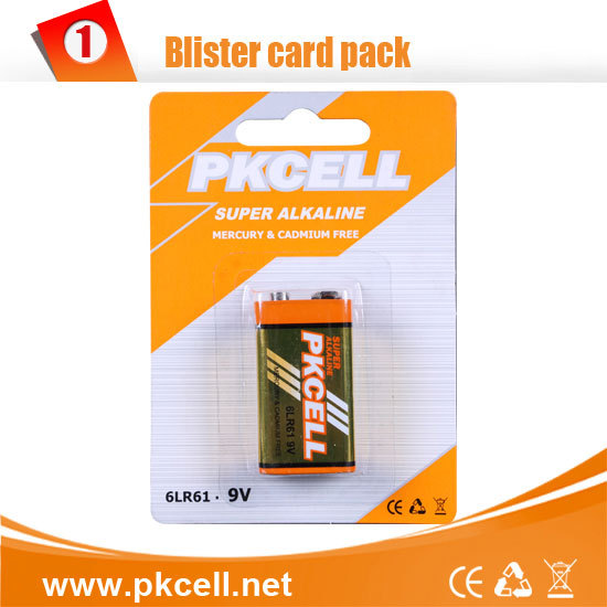 深圳比苛供应 干电池 碱性电池 9V 6LR61  厂家直销