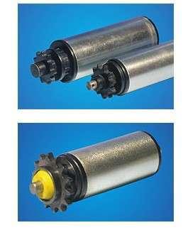 镀锌滚筒| PVC滚筒|包胶滚筒| 不锈钢滚筒|堆积式滚筒|单双排链轮滚筒