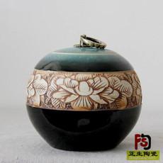 定做藥房裝膏方用的密封瓷罐蜂蜜粉彩陶瓷包裝罐茶葉包裝罐批發定做