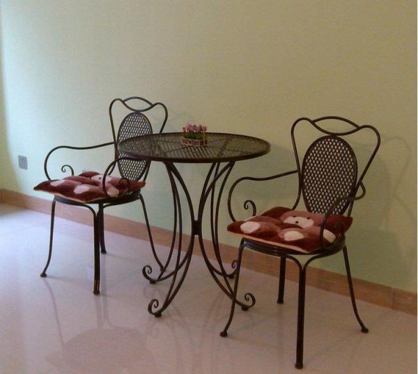 欧式铁艺阳台茶几休闲咖啡厅桌椅庭院户外桌椅三件套