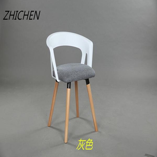 餐椅布艺简约餐厅靠背椅子伊姆斯设计师创意时尚休闲椅