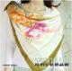 新品丝巾 100%桑蚕丝手绘工笔素绉缎真丝大方巾女士丝巾围巾sc615