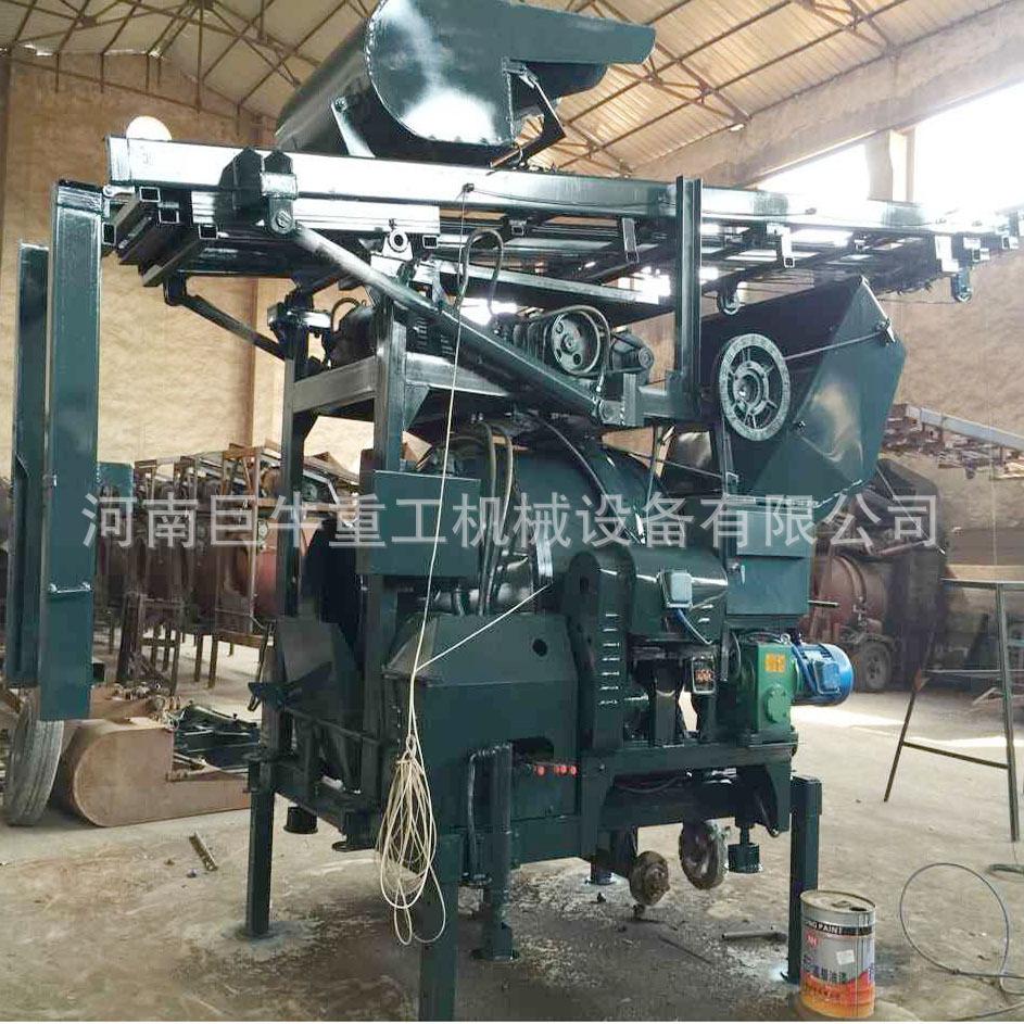 液压爬梯式搅拌机 全自动提升式搅拌机 jzc350液压提升搅拌机图片