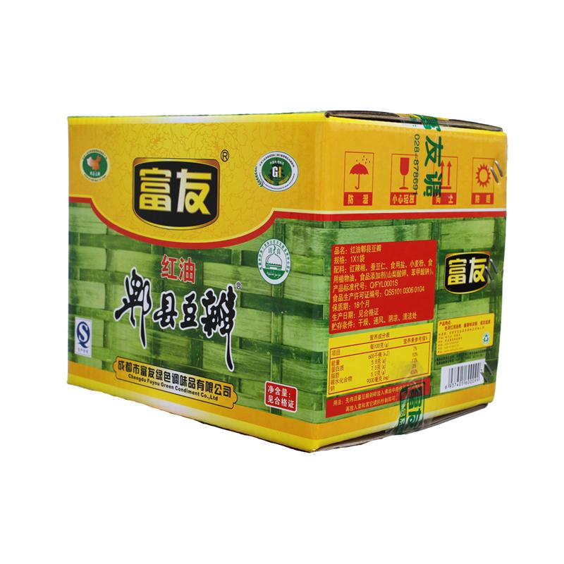 富友牌 地道郫县豆瓣酱 12kg装 红油豆瓣 四川特产 川菜调料
