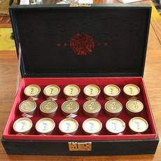 """高山红茶礼盒通用茶叶包装盒空盒小罐茶叶罐""""藏""""小缸礼盒(18小罐)"""