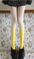供应天鹅绒复古渐变色连裤丝袜