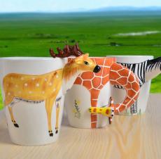 供应3D 立体 水杯 马克杯 手绘陶瓷