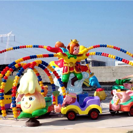 【厂家直销】三头六臂玻璃钢旋转电动小火车摇摇车漂流儿童游乐设施