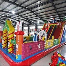 喜洋洋大滑梯蹦蹦床儿童乐园气模大型室外内玩具滑梯游乐设备