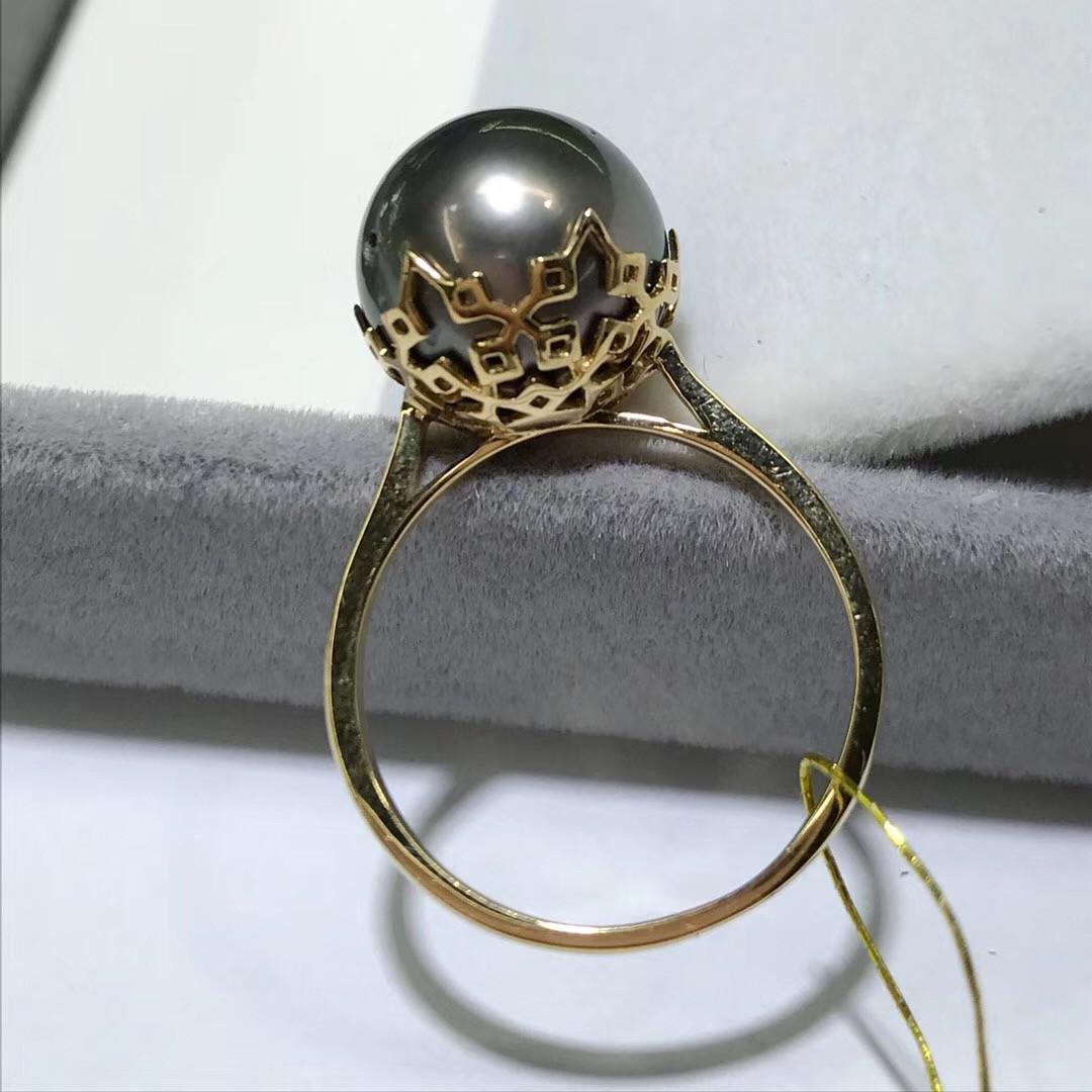 18k金大溪地菲律賓申搏sunbet官網戒指 珍珠直徑12-13mm 氣質高貴優雅