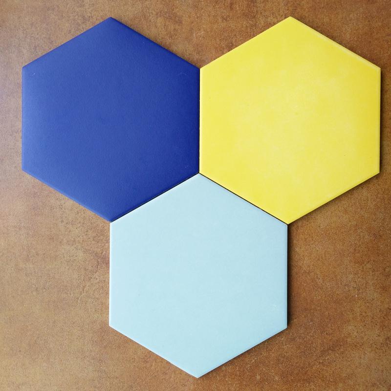 外贸 瓷砖 瓷砖卫生间地砖陶瓷墙砖 亚光六角砖防滑地板瓷片