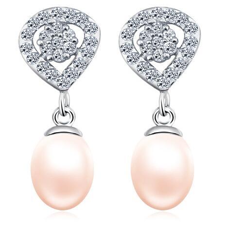 供应 意高 2015新款 浪漫明珠 925纯银 防过敏天然珍珠耳钉耳饰