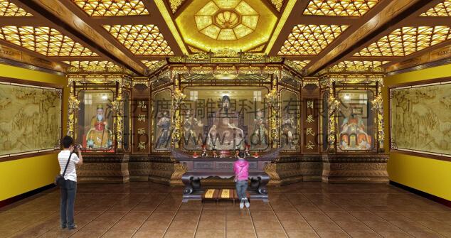 渡海厂家直销产品寺庙彩绘佛堂 彩绘古建彩 绘园林 彩绘中式 彩绘寺庙装修寺庙设计
