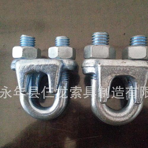 供应优质热镀锌电力专用钢丝绳卡头