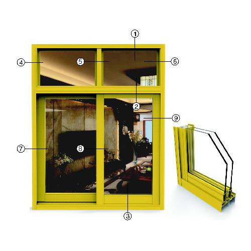 供应 永高铝材 S80推拉窗系列型材  厂家直供 正品保障 YG1-13