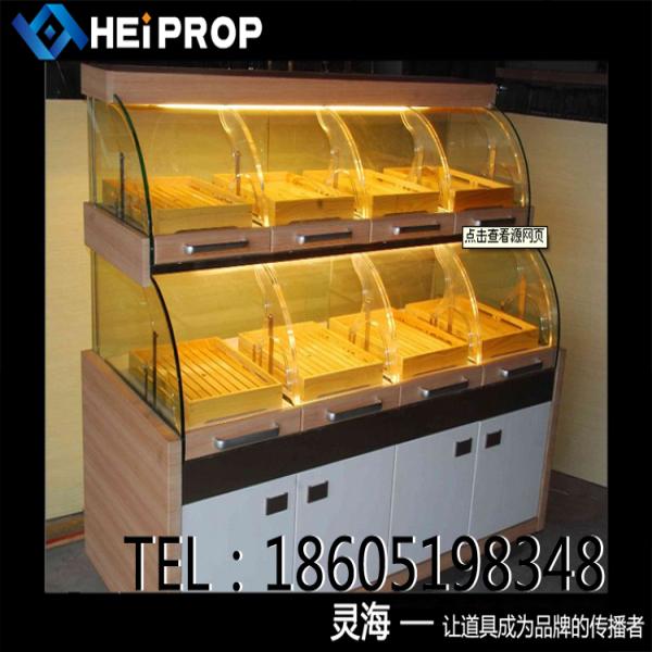 常州厂家定制展示柜 蛋糕柜 甜品展柜 面包架 亚克力展柜 中岛柜台