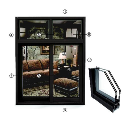 供应 永高铝材 999推拉窗系列型材  厂家直供 正品保障 YG4-7