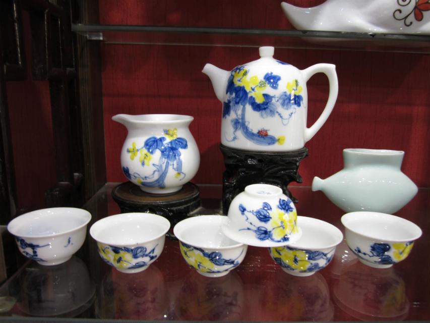 景德镇茶具厂家 茶具供应厂家 手绘青花茶具订做