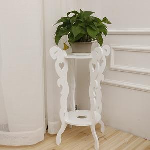 简约实心多层木质花盆架绿萝花架子欧式落地阳台室内客厅花架特价