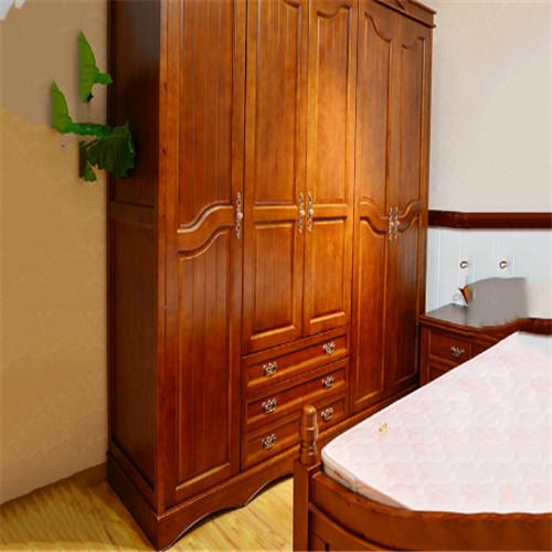 厂家批发 卧室衣柜门 美国橡木衣柜门门 古典橡木衣柜