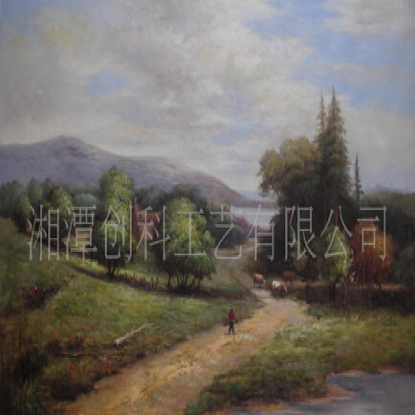 供应 风景油画 纯手绘油画 田园风光