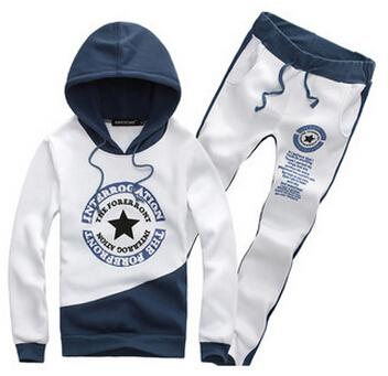 五星印花 秋季男套头青少年韩版卫衣男 加厚运动服套装 厂家直销
